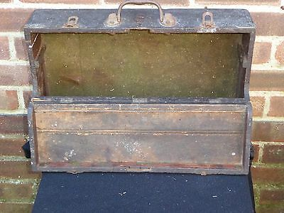 Vintage Wooden Tool Storage Cabinet Chest Engineers Box Coachbuilders Table