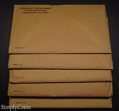 (5) 1964 Proof Set ~ Original Envelope With COA ~ US Mint Silver Coin Lot