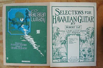 Sheet Music Lot 2 Vintage Hawaiian Lullaby 1909/ Selections For Hawaiian Guitar