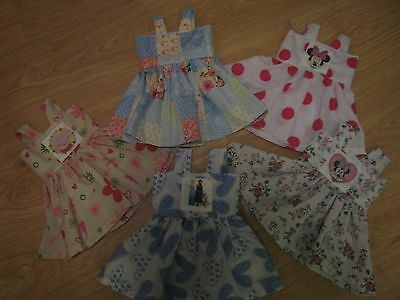 """DOLLS CLOTHES 18"""" - FITS BABY ANNABEL - frozen/peppa pig - HANDMADE- NEW"""