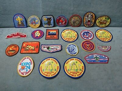 Vintage Boy Scouts Patches Lot of 23 Tall Pine Council 1971-1997 (1985 Jamboree)