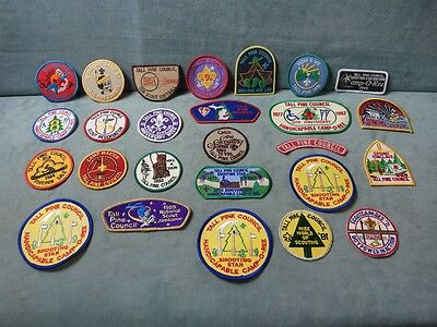 Vintage Boy Scouts Patches Lot of 26 Tall Pine Council 1971-1997