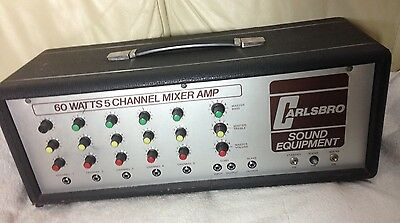 Highly Collectable Vintage Valve Carlsbro 60watts 5 Channel Mixer Amp