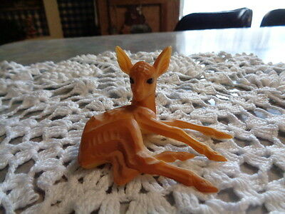 Vintage Laying Down Fawn / Deer Plastic Hong Kong