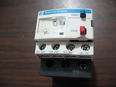 Nice Telemecanique LRD 07 Overload Relay 1.6 to 2.5 Amp