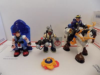 """Fisher-Price Rescue Heroes  6"""" Action Figures  Jointed Move LOT 2"""