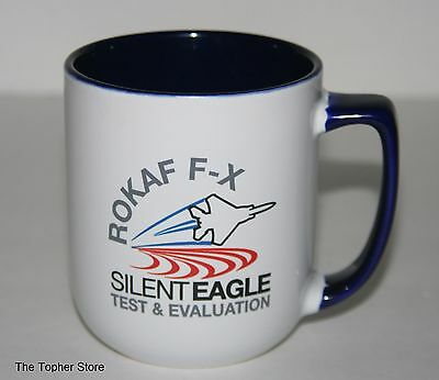 RARE ROKAF FX SILENT EAGLE BOEING MUG CUP Black Eagles Korean Air Force Military