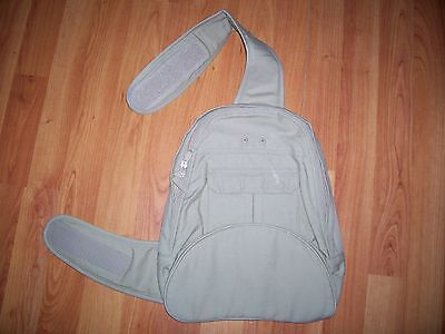 Stone over shoulder children's cotton back pack from M & S