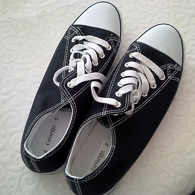George canvas trainers. Size 10