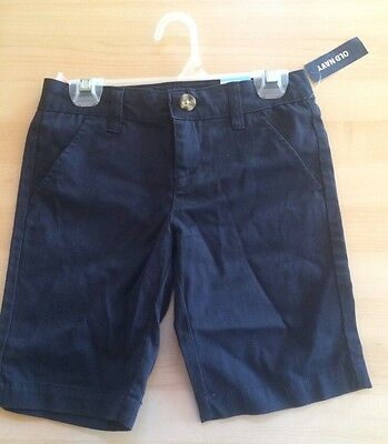 ☀OLD NAVY Youth Uniform Shorts Blue Flat Front Adjustable Waist School Youth 7