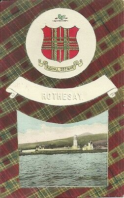 Royal Stewart Shield, Rothesay, Isle Of Bute, Scotland + Postmark.