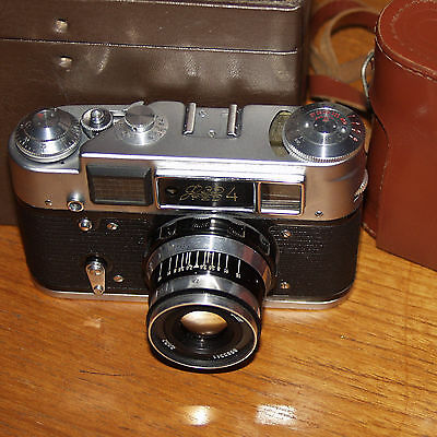 FED 4 CCCP 35mm film rangefinder camera with 52mm f2.8 N-61 Lens USSR BOXED