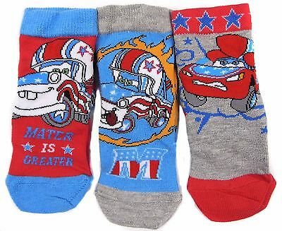 Boys Disney Cars Socks Pack of Three Shoe Size 0-2.5 6-18 months Stocking Filler