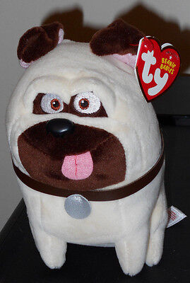 Ty Beanie Baby - MEL (The Secret Life of Pets Movie) Dog ~ NEW Plush Stuffed Toy