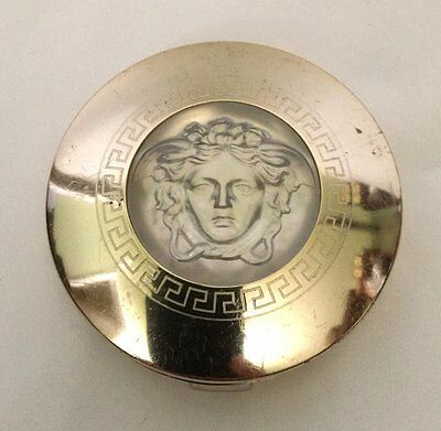 Vintage Versace Medusa V 2002 Compact Powder Blush Made in Italy Authentic