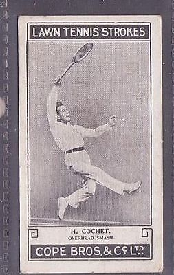 From a set of 25 Lawn Tennis Strokes issued by Cope in 1924 no.8 H. Cochet