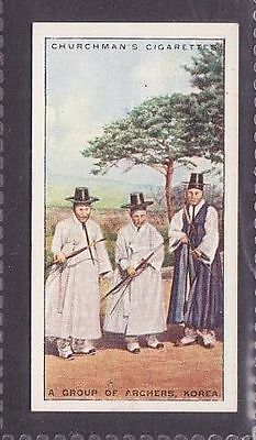 """From 25 """"Sports & Games in Many Lands"""" by Churchman 1929 no.15 Archery Korea"""