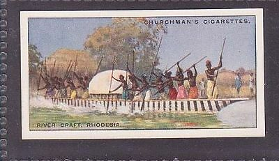 """From 25 """"Sports & Games in Many Lands"""" by Churchman 1929 #18 Craft Rhodesia"""