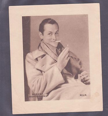 Film Stars 1930s Insert 166x138mm issued DC Thomson features Robert Montgomery