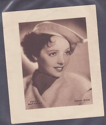 Film Stars 1930s Insert 166x138mm issued by DC Thomson features Jessie Mathews