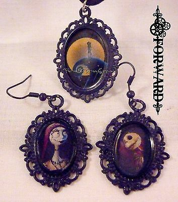 Custom Sally and Jack Earrings and Necklace Set Nightmare Before Christmas Lace