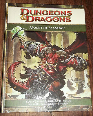 Dungeons and Dragons Book Monster Manual used Heavy Book