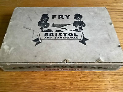 Fry's Frys chocolate Cream Tablets wooden display box 1920's vintage