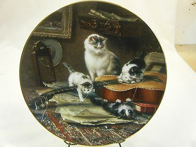 """"""" String Quartet"""" Collectible China Plate by Henriette Ronner"""
