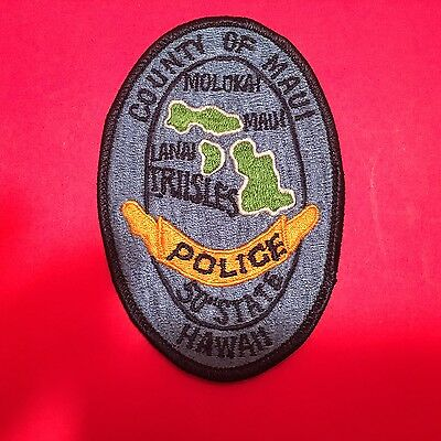 County Of Maui Hawaii  Police Patch  Used Old