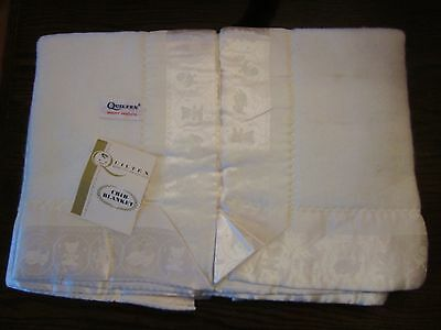 Vintage Quiltex Baby Crib Blanket Never Used Poly Rayon Blend