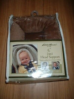 Eddie Bauer Head Support Brown Larger Babies Brand New Free Shipping