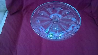 Vintage Pressed Glass  Large Cake Stand