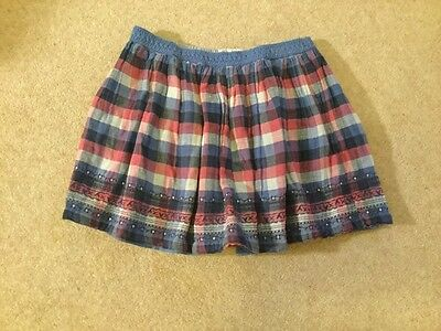 Lovely Fat Face Checked Cotton Full Skirt - Age 12-13 Years -Excellent condition
