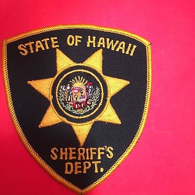 State Of Hawaii Sheriff  Shoulder Patch Used