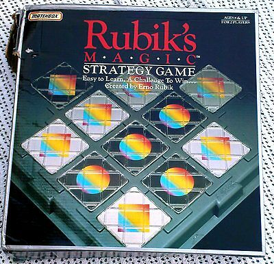 Vintage RUBIK'S MAGIC Strategy Game Boxed With Instructions  (Matchbox 1987)
