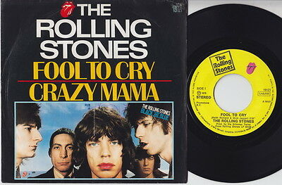 The ROLLING STONES * Fool To Cry * 1976 BELGIUM 45 *
