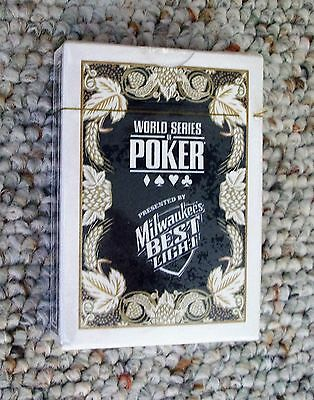 Milwaukee's Best Light Beer Deck Playing Cards World Series Of Poker NEW Sealed