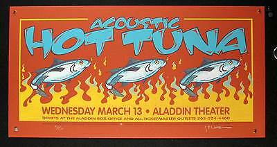 Acoustic Hot Tuna Poster Aladdin Portland 2002 Hand Signed #92/155 Gary Houston