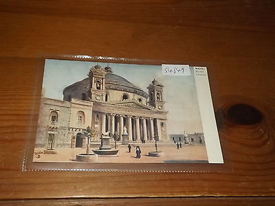 Old MALTA  postcard our ref #54849 MUSTA CHURCH BY TUCK