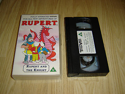 All New Adventures Of Rupert - Rupert And The Knight Vhs Video Tape