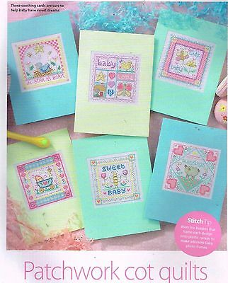 Gail Bussi Patchwork Cot Quilts Cards Green Chart Only