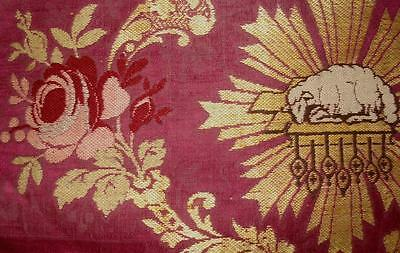 BEAUTIFUL FRAGMENT 18th/19th CENTURY FRENCH SILK BROCADE, REF PROJECTS