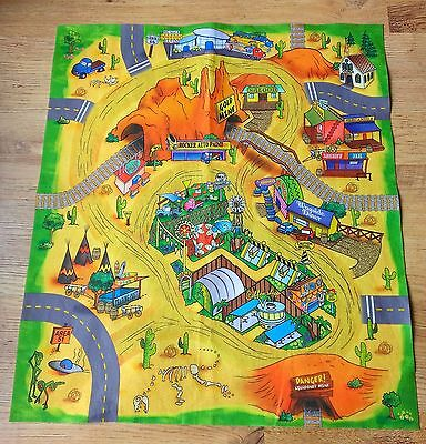 """Child's usa route 66,Area 51, car/train play mat 31.5"""" x 28"""" New"""