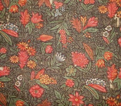 RARE TIMEWORN 18th CENTURY c1790 FRENCH QUILTED BONNE HERBES TOILE DE JOUY