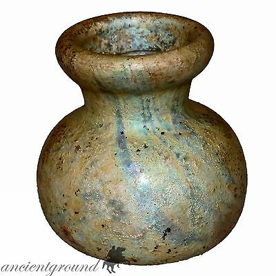 Museum Quality Small Roman Glass Bottle 200-400 Ad