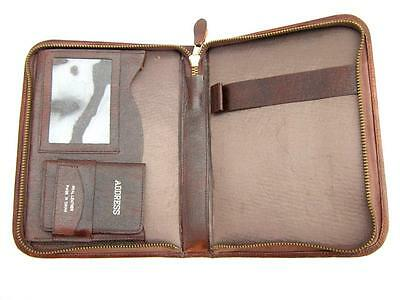 Leather writing case.  Brown.  Vintage   Unused condition