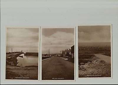 Four Vintage Rosehearty Aberdeenshire Real Photo  Postcards