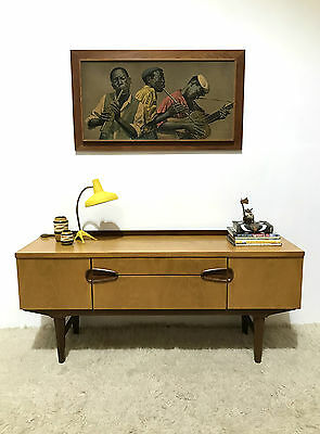 60S Funky Mid Century Vintage Retro Remploy Low Sideboard Media Unit
