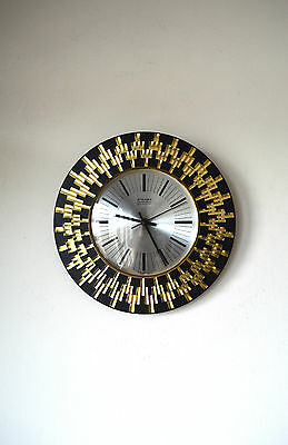 70S Stylish Funky Mid Century Vintage Retro Staiger Chrometron Wall Clock