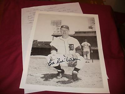 "Bob "" Red "" Wilson signed A4 Paper Photograph and Hand Written Reply"